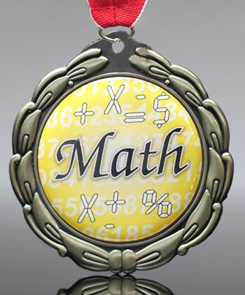 Picture of Epoxy Domed Math Medals