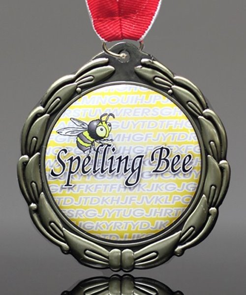 Picture of Epoxy Domed Spelling Bee Medals