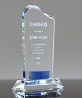 Picture of Cobalt Gem Crystal Trophy