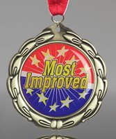 Picture of Epoxy Domed Most Improved Medals
