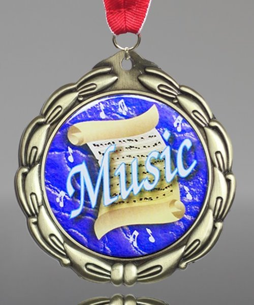 Picture of Epoxy-Domed Music Medal