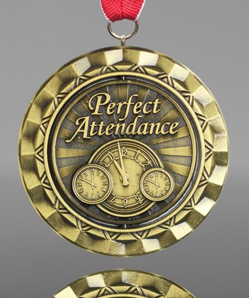 Picture of Perfect Attendance Spinner Medal