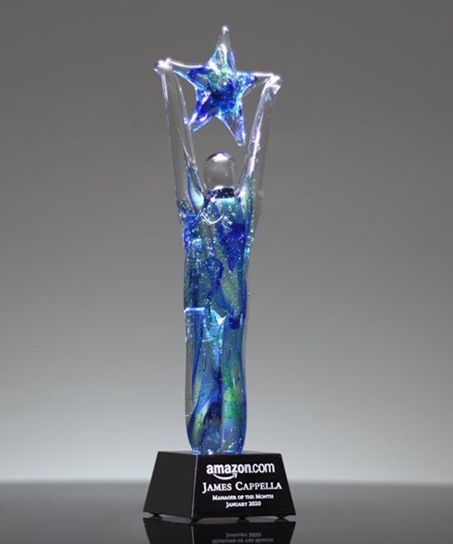 Picture of Art Glass Star Achiever Award