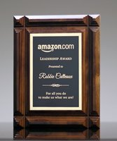 Picture of Deep Groove Walnut Plaque Award