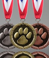 Picture of Paw Print Medals
