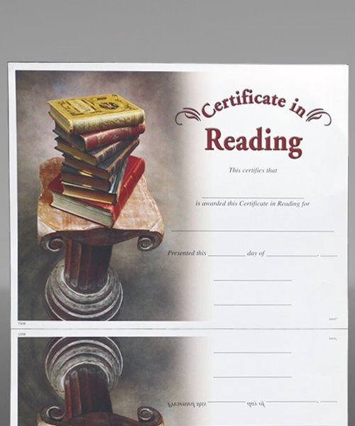 Picture of Photo-Image Certificate of Reading