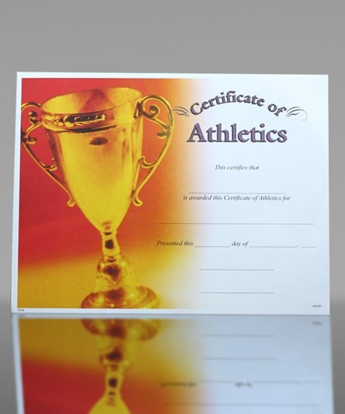 Picture of Photo-Image Certificate of Athletics