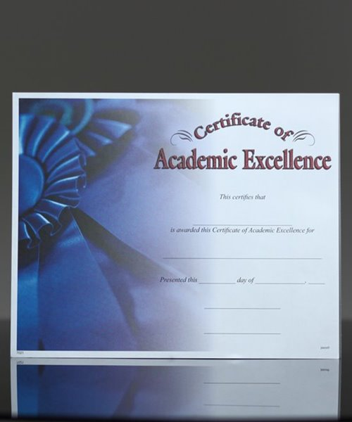 Picture of Photo-Image Certificate of Academic Excellence