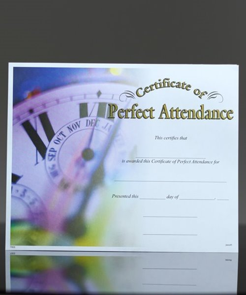 Picture of Photo-Image Certificate of Perfect Attendance