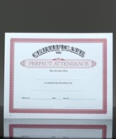 Picture of Parchtone Certificate of Perfect Attendance