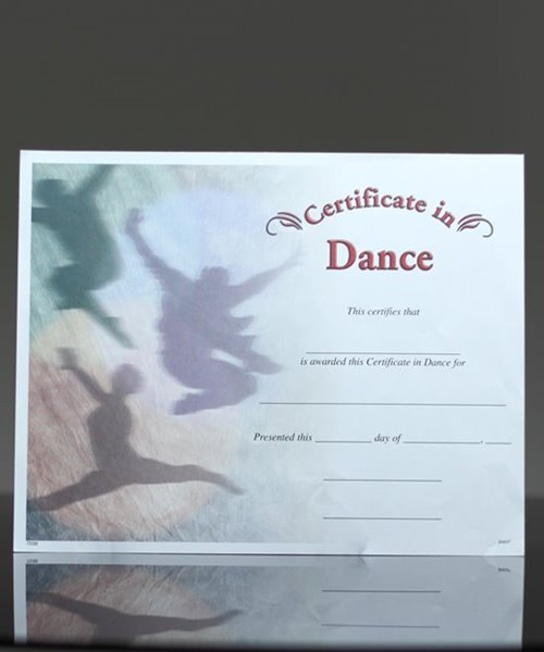 Picture of Photo-Image Certificate of Dance