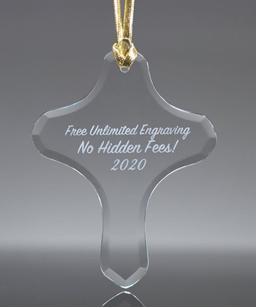 Picture of Glass Cross Tree Ornament