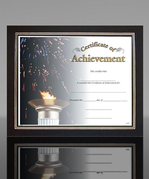 Picture of Black Linen Certificate Frame
