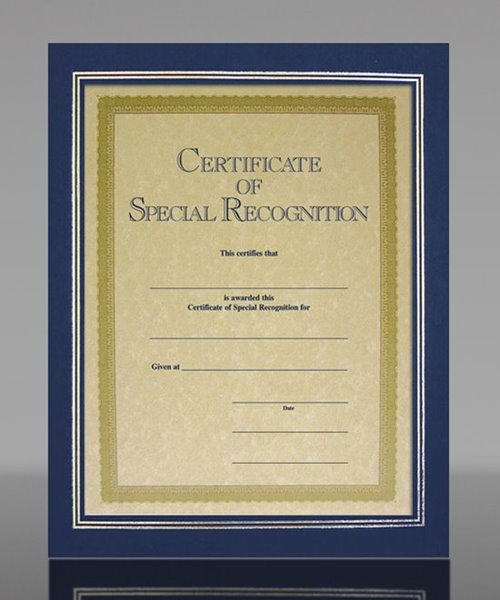 Picture of Blue Linen Certificate Frame