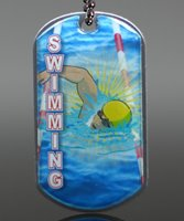 Picture of Swimming Dog Tag