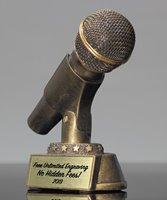 Picture of Gold Microphone Resin