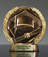 Picture of Bronzestone Graduation Trophy