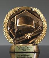 Picture of Bronzestone Graduation Trophy