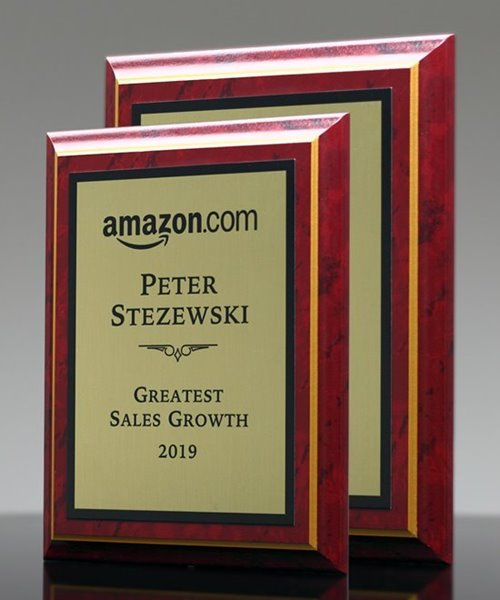 Picture of Burgundy Marble Award Plaque