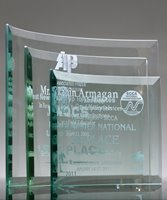 Picture of Premium Curved Glass Award