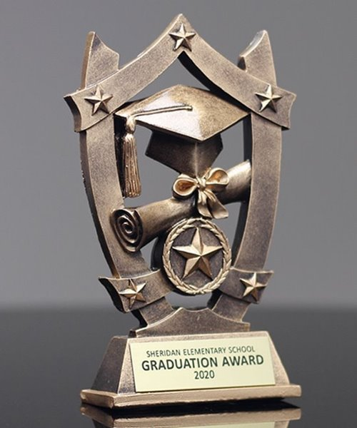 Picture of Star Shield Graduation Trophy