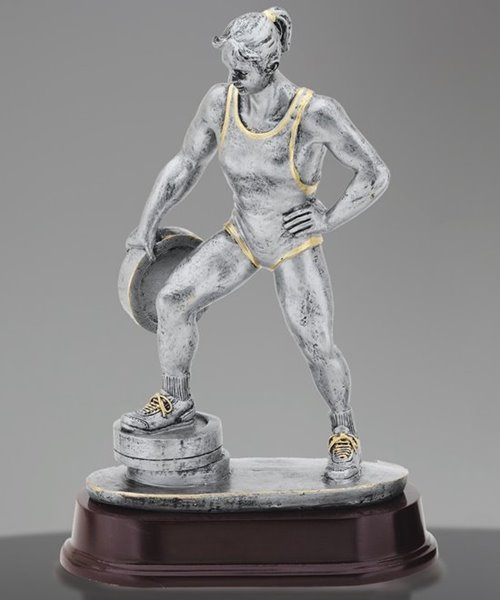 Picture of Weightlifter Bar in Hand Female Trophy