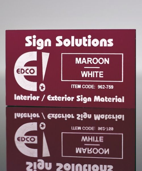 Picture of Trolase Plate Maroon to White