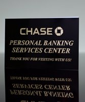 Picture of Metal Sign Black to Gold