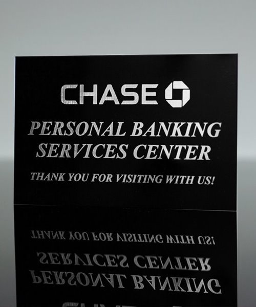 Picture of Metal Sign Black to Silver