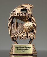 Picture of Goldtone Closest to the Pin Golf Trophy