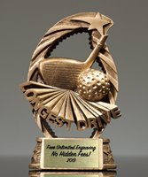 Picture of Goldtone Longest Drive Golf Trophy