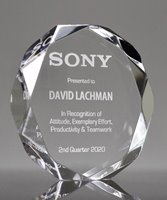 Picture of Clear Acrylic Octagon Award