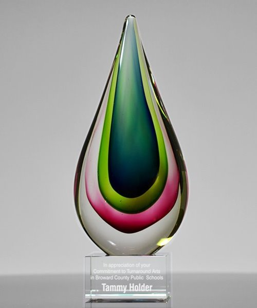 Picture of Essence Teardrop Art Glass Award