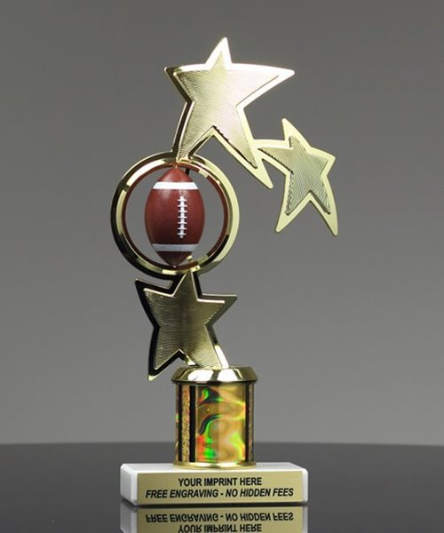 Picture of Color Spin Football Trophy