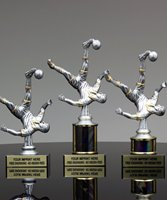 Picture of Platinum Bicycle Kick Soccer Trophy