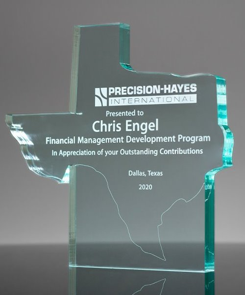 Picture of Texas Upright Jade Acrylic Award