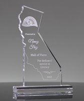 Picture of Custom State California Shape Award