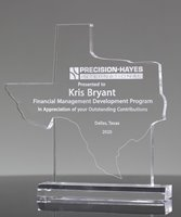 Picture of Custom State Texas Shape Award