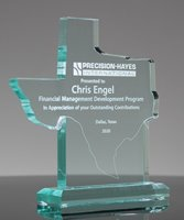 Picture of Custom Jade Acrylic Texas State Shape Award