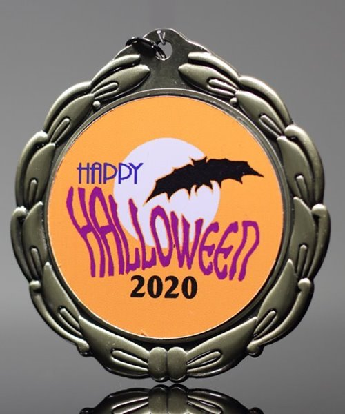 Picture of Custom Printed Halloween Medals