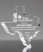 Picture of Clear Acrylic Texas Paperweight