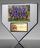 Picture of Baseball Home Plate Photo Plaque