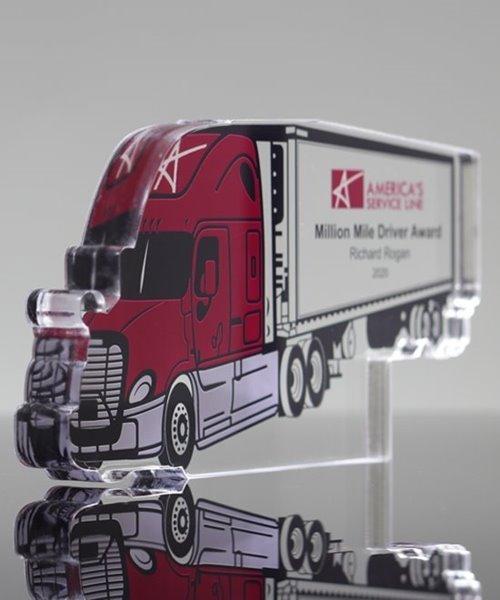 Picture of Custom Acrylic Semi Truck Award