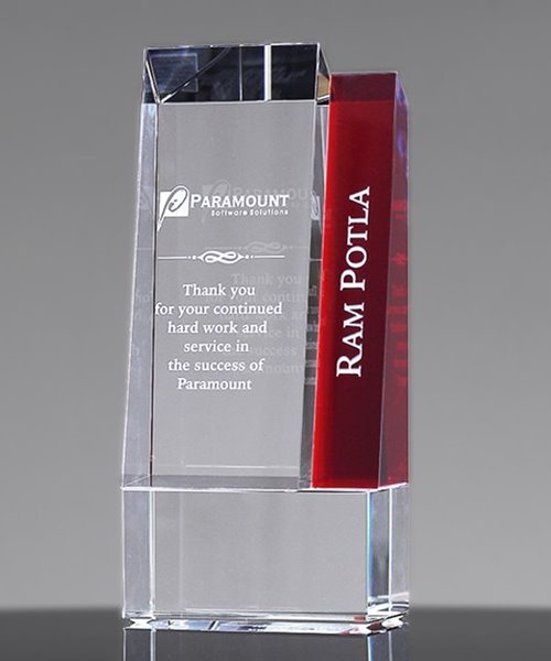 Picture of Metro Red Crystal Award