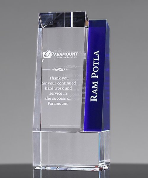 Picture of Metro Blue Crystal Award