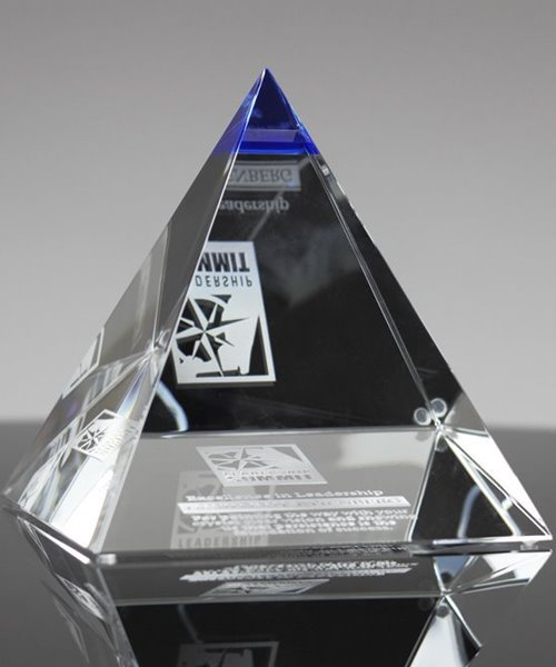 Picture of Blue Majestic Crystal Pyramid