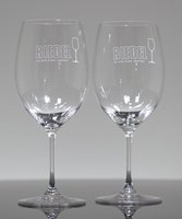 Picture of Etched Crystal Wine Glasses