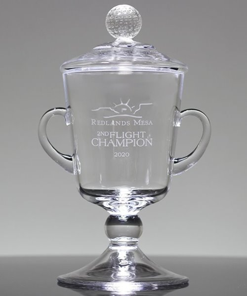 Picture of Etched Crystal Golf Cup Ranier