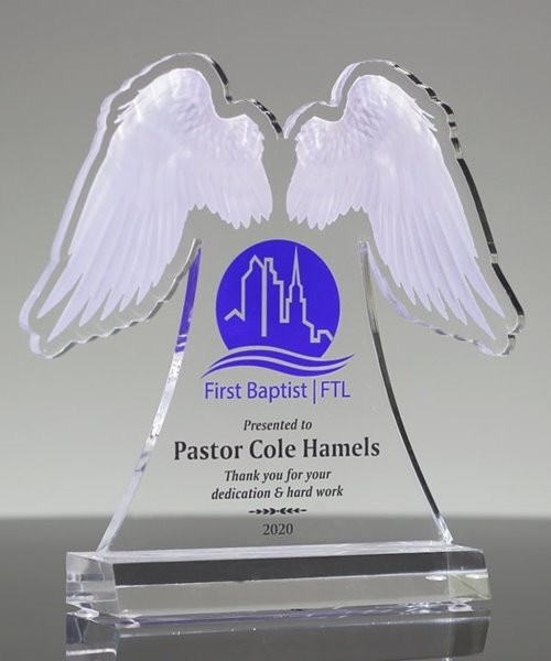 Picture of Angel Wings Acrylic Award