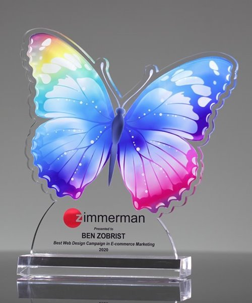 Picture of Colorful Butterfly Award